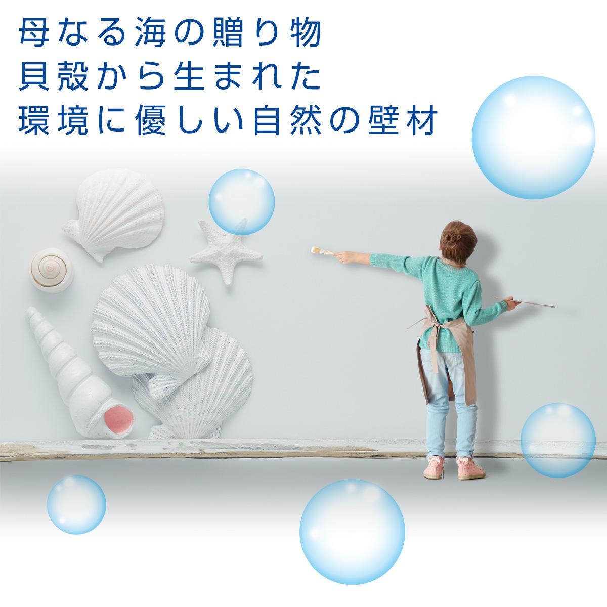 母なる海の贈り物 貝殻から生まれた環境に優しい自然の壁材