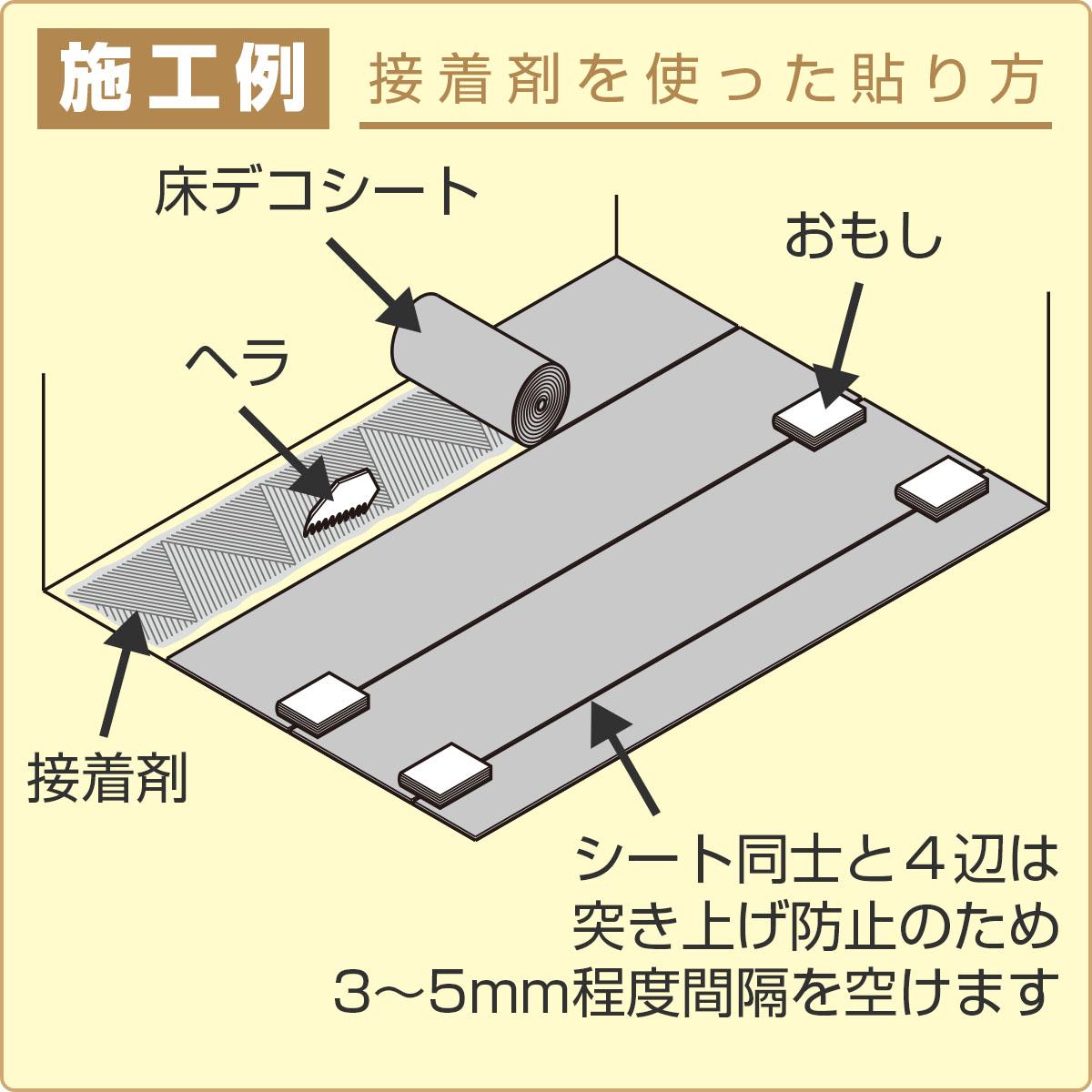 施工例 接着剤を使った貼り方