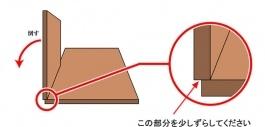 床材の合わせ方