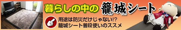 暮らしの中の籠城シート〜普段使いの防災用品〜