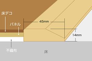 段差見切り・厚14mm×巾45mm