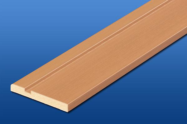 ナチュラルバーチ色の巾木厚さ7mm長さ1800mm写真
