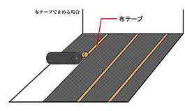布テープでとめる方法